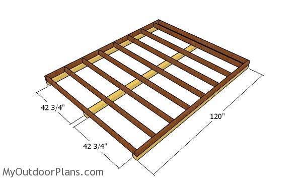 Fitting the skids - Cheap Shed Plans