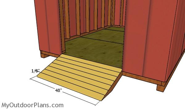 8x10 Cheap Shed Door And Ramp Plans Myoutdoorplans