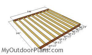 Floor frame - 12x12 shed plans