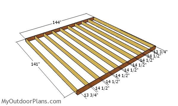 Floor frame - 12x12 shed plans
