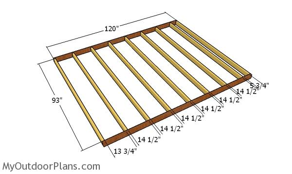 Floor frame - 8x10 Gable Shed