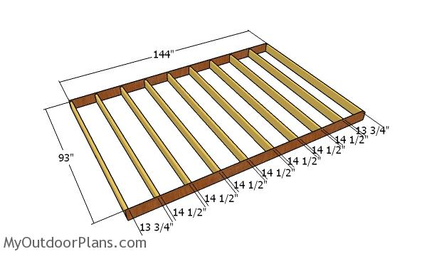 Floor frame - 8x12 shed