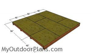 Floor sheets - 12x12 shed plans