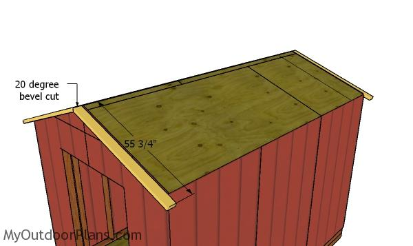 Front and Back roof overhangs - 8x12 Gable Shed