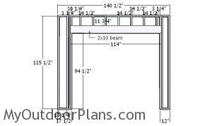 Front wall frame - 2 car garage plans