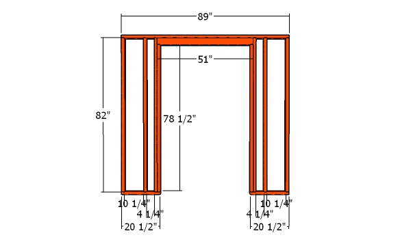 Front wall frame - 8x12 Shed