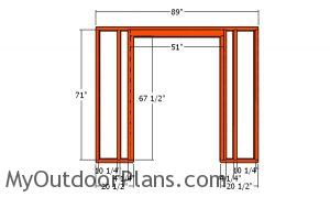 Front wall frame - DIY 8x12 Shed