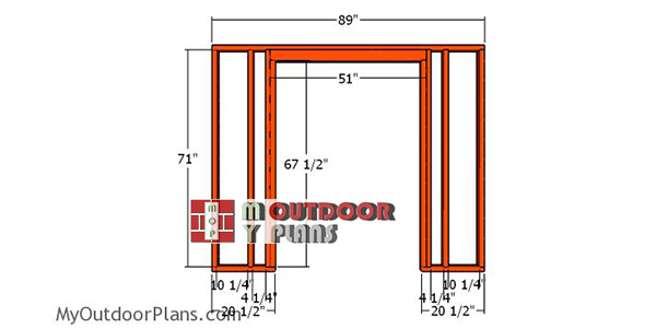 Front-wall-frame-diy-8x10-simple-shed