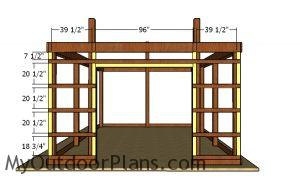 Front wall girt blockers - 16x24 pole barn