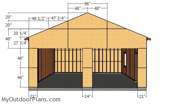Front wall sheets - 24x24 Garage Plans