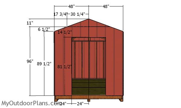 Front wall siding - 8x12 Cheap Shed
