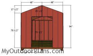 Front wall siding panels - DIY 8x10 Shed