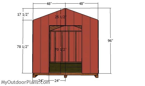 Front wall siding panels - DIY 8x10 Shed