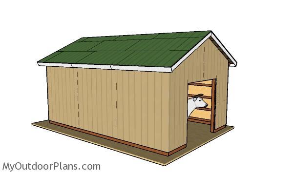 16x24 Pole Barn Plans | MyOutdoorPlans | Free Woodworking