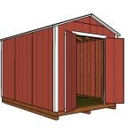 8×12 Cheap Shed Plans