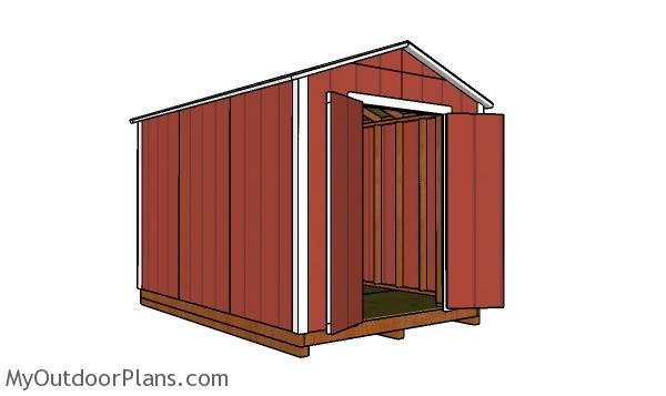 How to build a 8x12 cheap shed
