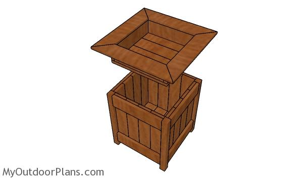 How to build a planter box with storage