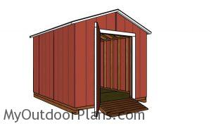 How to build a simple 8x10 gable shed