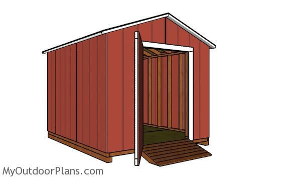 8x10 Cheap Shed Plans - Free PDF Download