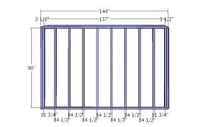 Plain side wall - 12x12 shed plans