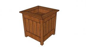 Planter Box with Storage Plans