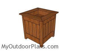 Planter Box with Storage Plans