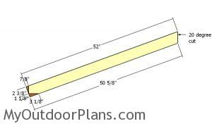 Rafter - 8x10 Shed Plans