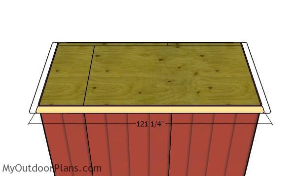 Side overhangs - 8x10 Chwap Shed Plans