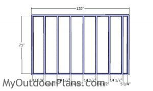 Side wall frames - 8x10 Utility Shed