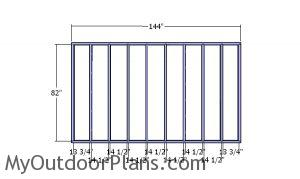 Side wall frames - 8x12 Shed
