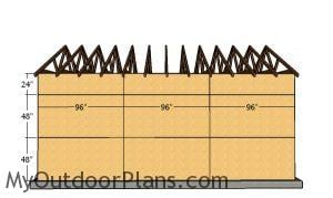 Side wall panels - 16x14 Garage Plans