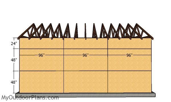 Side wall panels - 16x14 Garage Plans