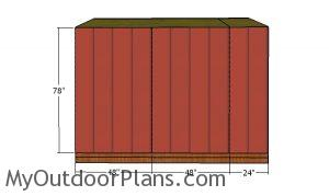 Side wall panels - 8x10 Shed