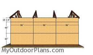 Side wall sheets - 16x24 Pole Barn Plans