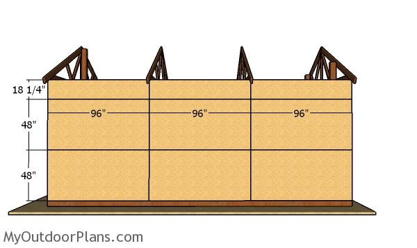 Side wall sheets - 16x24 Pole Barn Plans