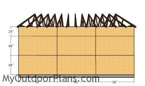 Side wall sheets - 24x24 Garage Plans