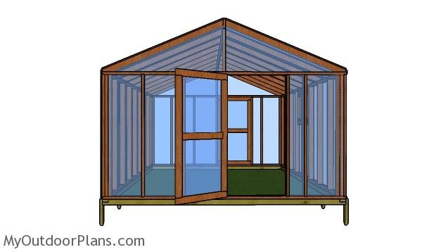 12x16 Greenhouse Free Pdf Plans Myoutdoorplans Free