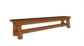 8 ft Wedding Bench Plans