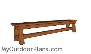 8 ft Wedding Bench Plans
