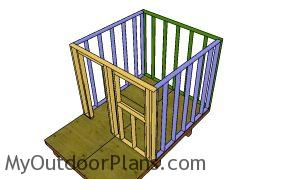 Assembling the frame of the beach hut