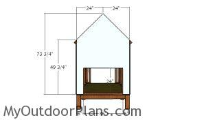 Back wall - 4x8 chicken coop plans