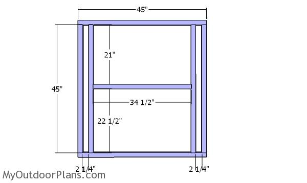 Back wall frame - Chicken coop plans
