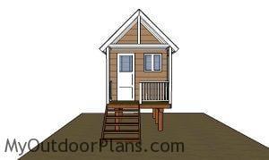 Beach Hut Plans - Front view