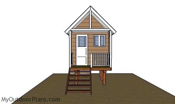 Beach Hut Plans - Front view