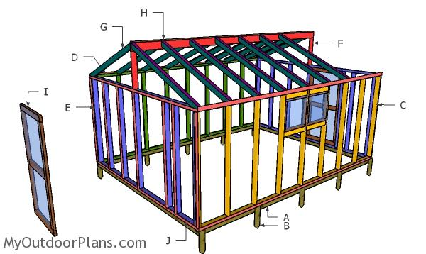 12x16 Greenhouse Plans - Part 2