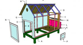 4×8 Backyard Chicken Coop Nesting Box Plans