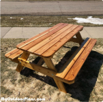 6 foot Picnic Table – DIY Cedar Project