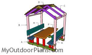 Building a covered picnic table
