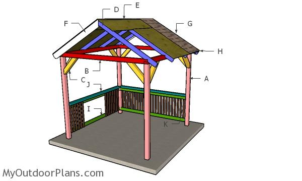 Grill Gazebo Railings Plans