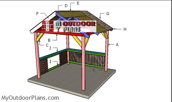 Building-a-grill-gazebo